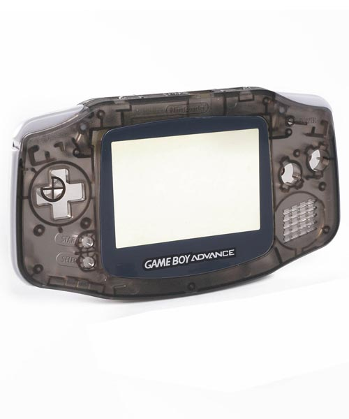 Game Boy Advance Housing Shell Replacement Service Clear Black