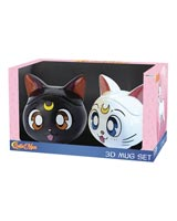 Sailor Moon: Luna & Artemis 3D Mug Gift Set