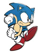 Sonic the Hedgehog Speedy Sonic Pin
