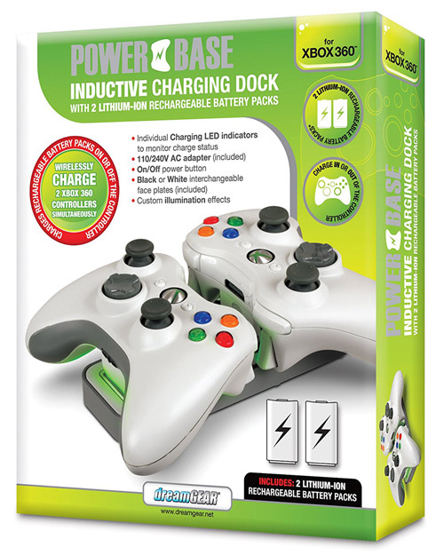 Xbox 360 Power Base Inductive Charging Dock