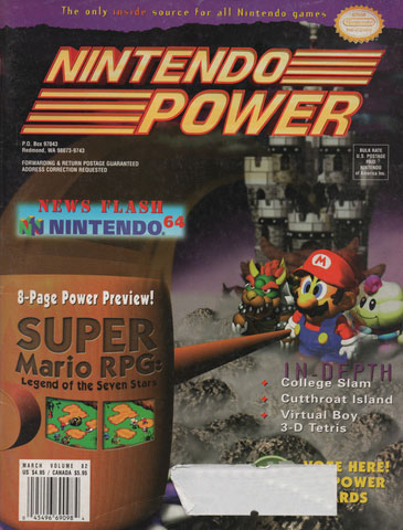 Nintendo Power Magazine Volume 82 Super Mario RPG