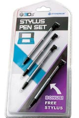 3DS Retractable Metallic Stylus Pen 4 Pack