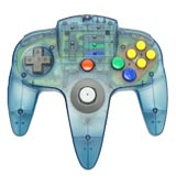 N64 ASCII Pad Controller Clear Blue