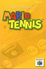 Mario Tennis (Instruction Manual)