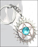 Black Butler Faustian Contract Symbol Blue Keychain
