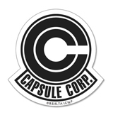 Dragon Ball Z Capsule Corp Symbol Sticker