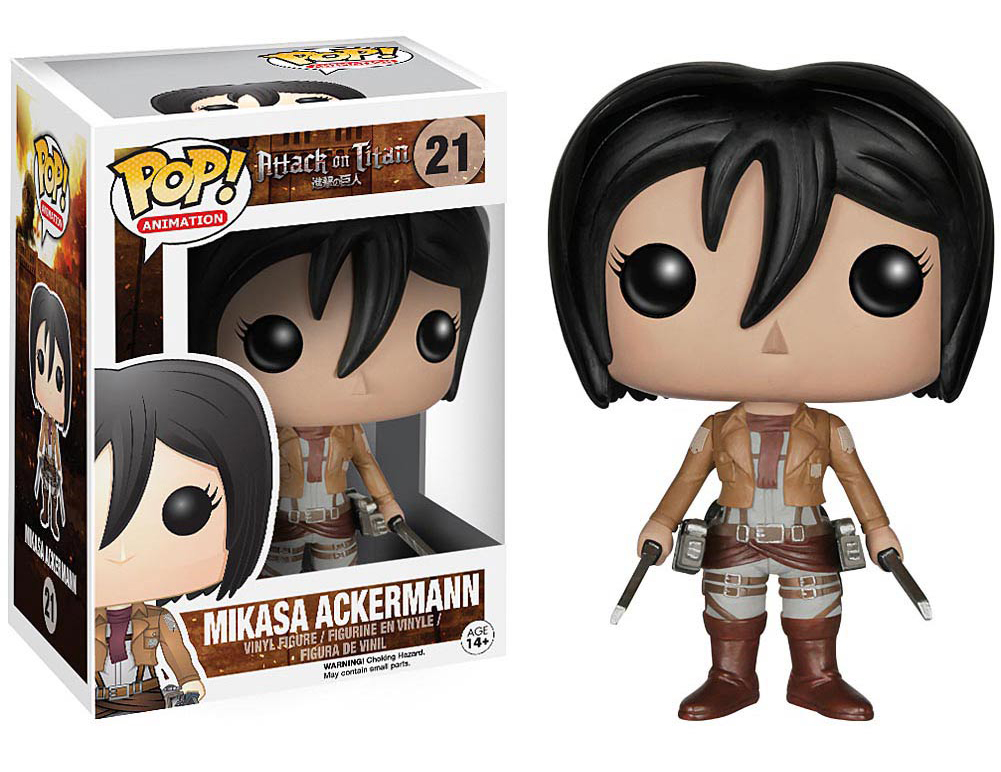 Pop Animation Mikasa Ackerman Vinyl Figure