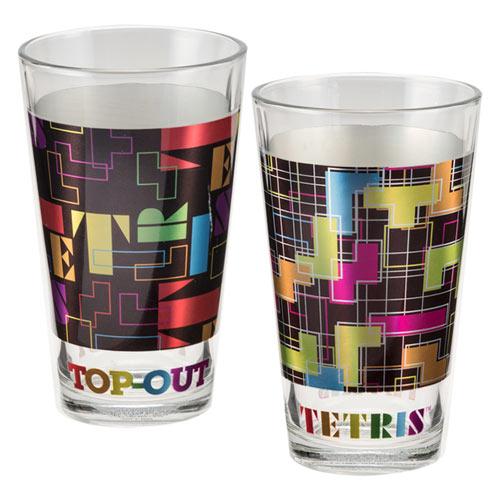 TETRIS Two 16 oz Laser Decal Glass Set