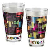 TETRIS Two 16 oz Laser Decal Glass Set
