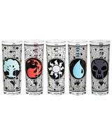 Magic the Gathering Mana Symbols 2 oz Shot Glasses 5 Pack