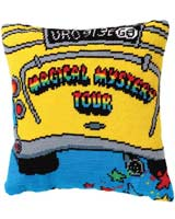 Beatles Tapestry Magical Mystery Tour Bus