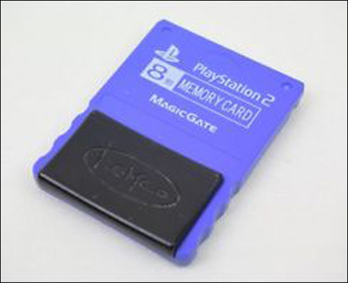 PS2 Memory Card Blue by Kemco