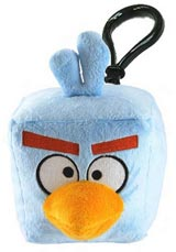 Angry Birds Space Ice Bird Plush Backpack Clip