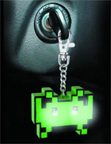 Space Invaders Mini Torch Keyring