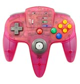 N64 ASCII Pad Controller Clear Pink
