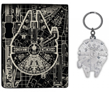 Star Wars Millenium Falcon Wallet and Keychain Set
