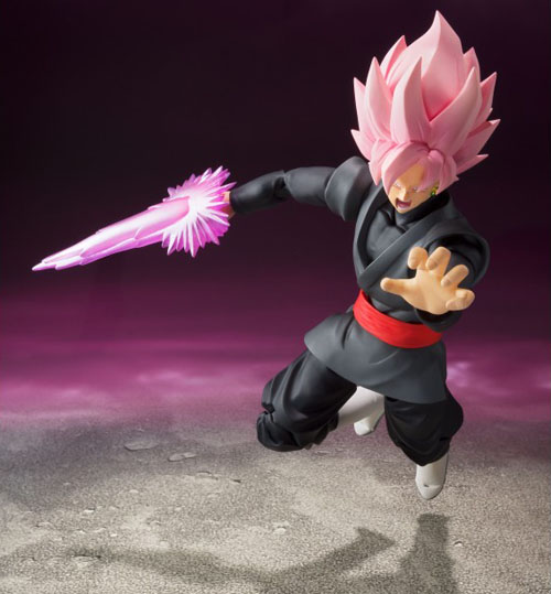 The Dragon Ball Super: Goku Black S.H.Figuarts Action Figure Charging into battle against our heroes!