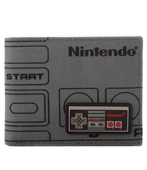 Nintendo NES Controller Gray Bi-Fold Wallet