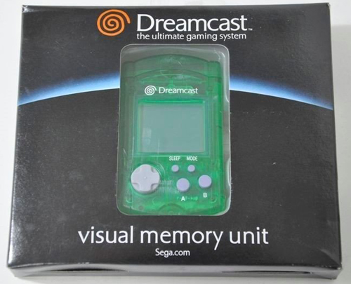 Dreamcast VMU Memory Card Clear Green by Sega