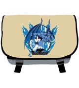 Blue Dragon Shu and Dragon Messenger Bag