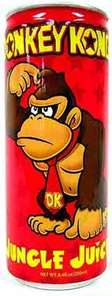 Donkey Kong Jungle Juice Energy Drink