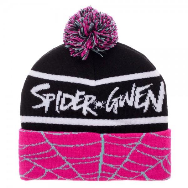 Marvel Spider Gwen Cuff Pom Beanie