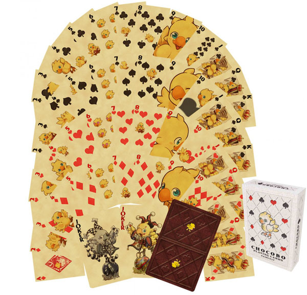 A preview of the delightful design of these Final Fantasy Chocobo Playing Cards!