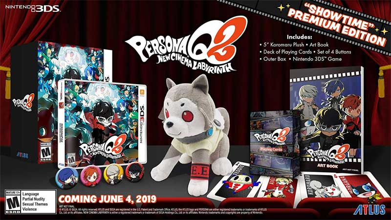 3DS Persona Q2 New Cinema Labyrinth Premium Edition items