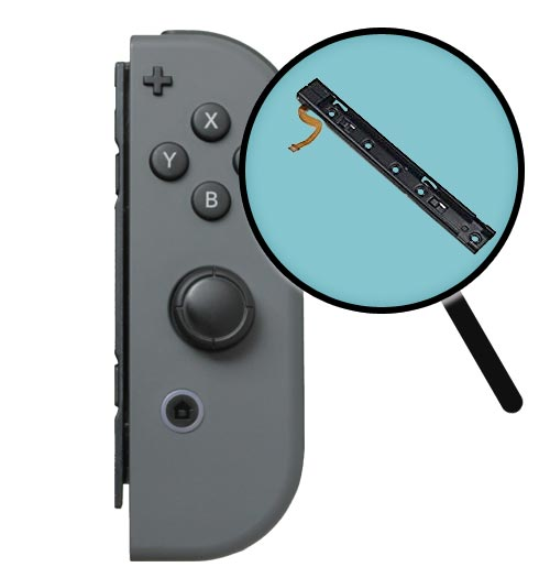 Nintendo Switch Right Joy-Con Slider Rail Replacement Service