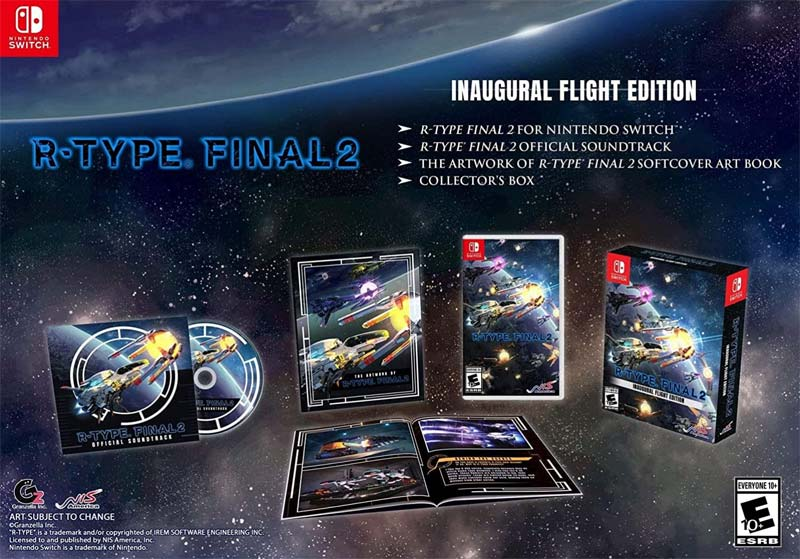 Nintendo Switch RType Final 2 Inaugural Flight Edition all items