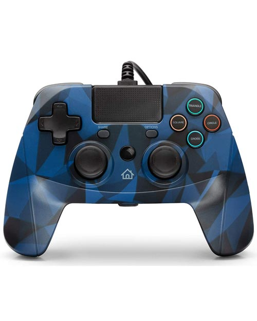PlayStation 4 GamePad 4 S Wired Controller Blue Camouflage Snakebyte