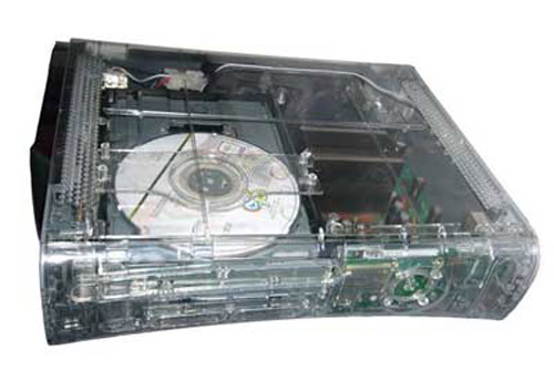 Xbox 360 Ghost Case Clear