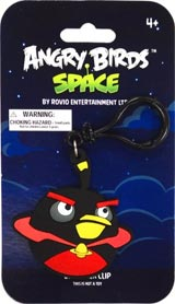 Angry Birds Space Black Bomb Bird PVC Backpack Clip