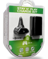 Xbox 360 Stay N Play Charge Kit Black