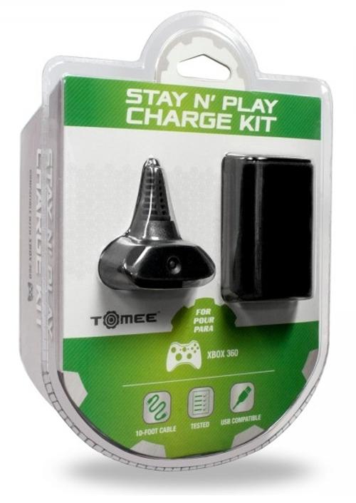 Xbox 360 Stay N Play Charge Kit Black