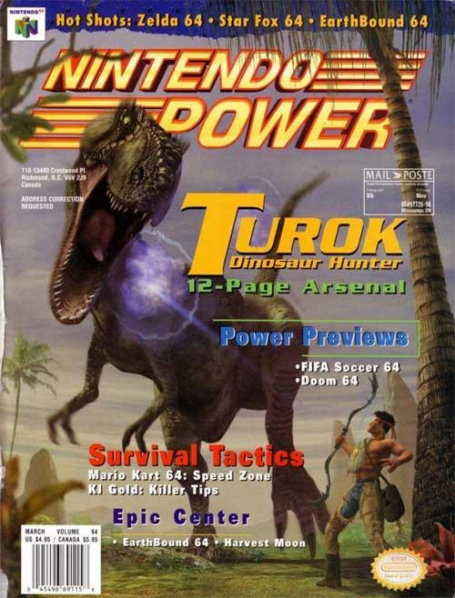 Nintendo Power Volume 94 Turok: Dinosaur Hunter