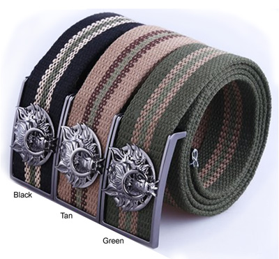 Final Fantasy Advent Children Cloud Symbol Fenrir Woven Belt - Tan