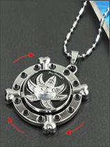 One Piece Thousand Sunny Spinning Logo Necklace
