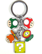 Super Mario Bros Power Ups Keychain