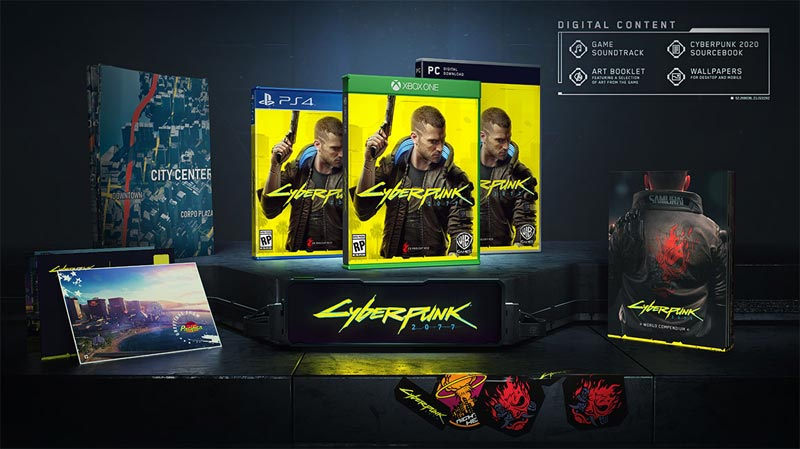 Cyberpunk 2077 standard edition bonus items