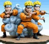 Naruto Shadow Clone Jutsu Diorama Statue