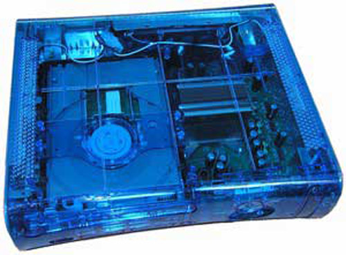 Xbox 360 Ghost Case Clear Blue