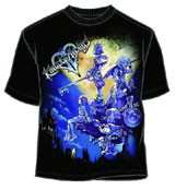 Kingdom Hearts Large Haven Black T-Shirt Medium