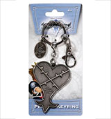 Kingdom Hearts Heartless Logo Pewter Key Ring