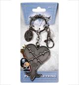 Kingdom Hearts Heartless Logo Pewter Key Ring