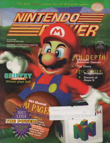 Nintendo Power Magazine Volume 85 Nintendo 64 Blowout