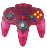 N64 ASCII Pad Controller Clear Red