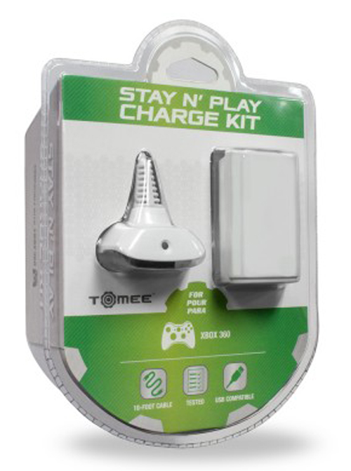 Xbox 360 Stay N Play Charge Kit White