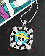 One Piece Pirate Spinning Logo Necklace
