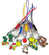 Super Mario Bros Character Phone Charms